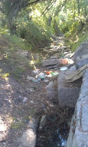 Нажмите на изображение для увеличения Название: Родник в селе Чобручи с мусором.jpg Просмотров: 211 Размер:98.4 Кб ID:447